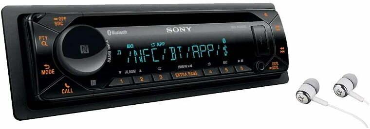 Reproductor estéreo para coche Sony MEX-XB100BT.